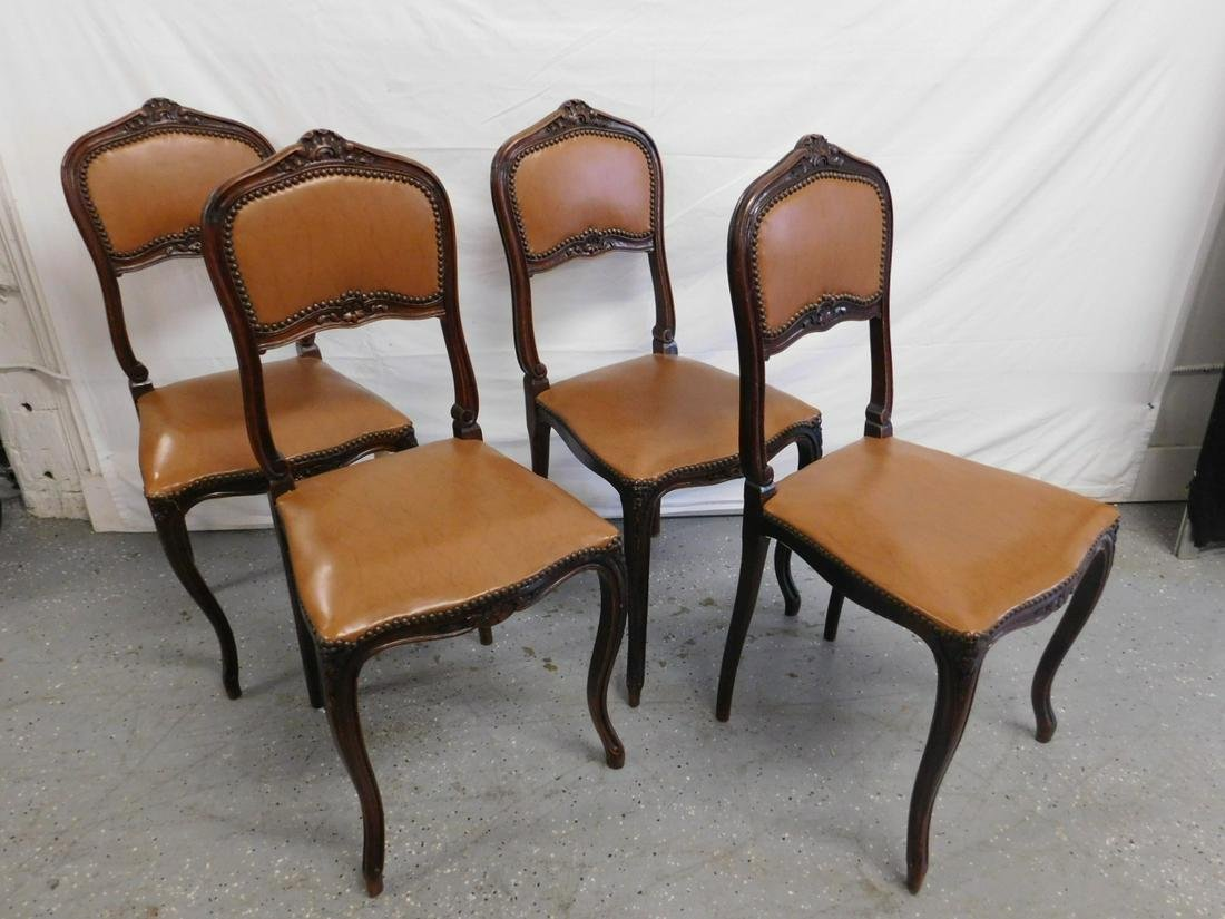 Set 4 Louis XV Style Side Chairs