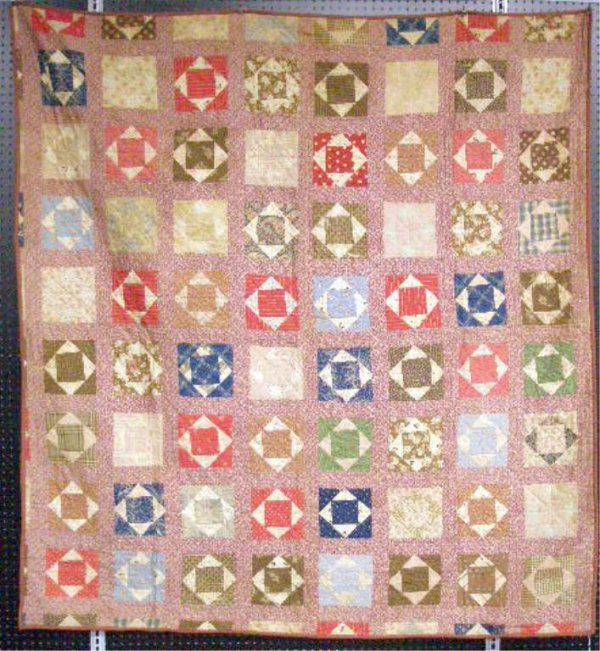 4005: Early 20th c. Block Pattern Quilt