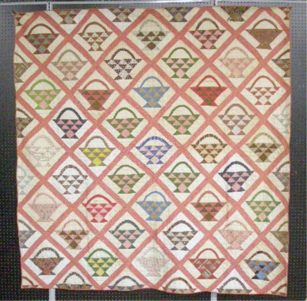4006: Late 19th c. Basket Pattern Quilt