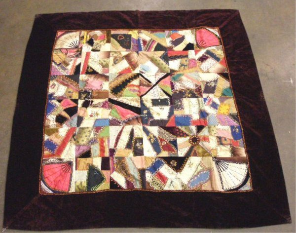 4007: Late 19th c. Crazy Quilt