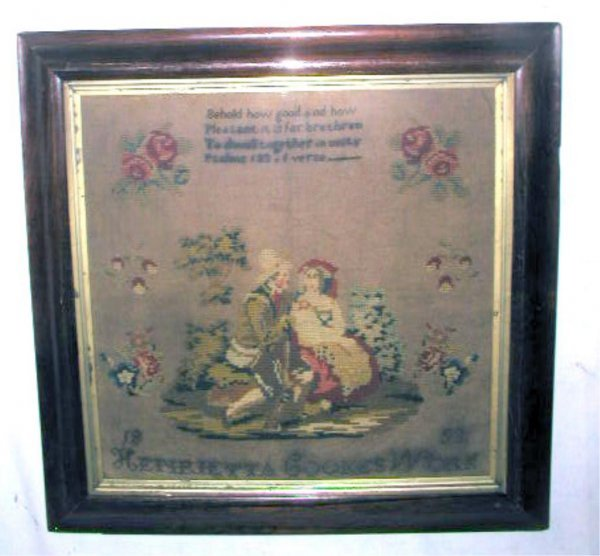 4011: Framed 1853 Signed Sampler