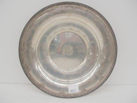 4013: Watson Sterling Silver Center Bowl