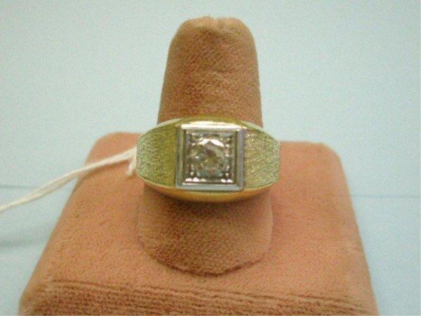 4179: Man's Gold & Diamond Ring