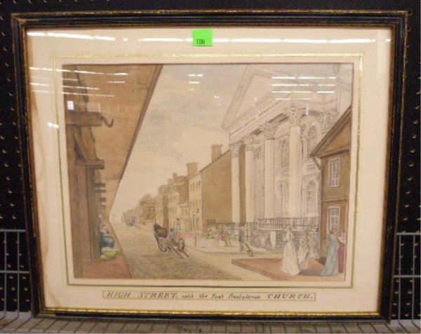 1006: 19th c. High Street Philadelphia Watercolor