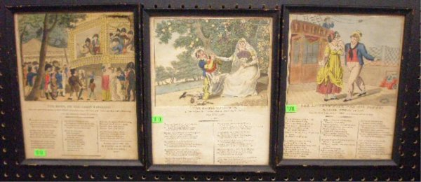 1010: Early 19th c. Colored Engraved British Cartoons