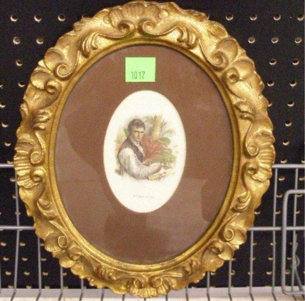 1017: Alexander von Humboldt Colored Engraving