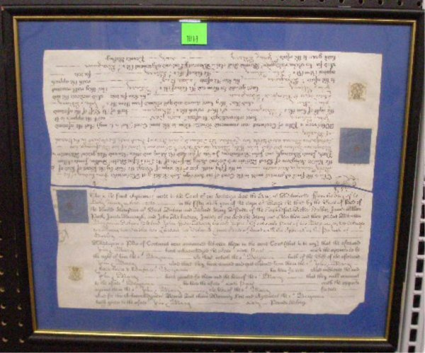 1018: Printed and Ms. British Estate Decrees
