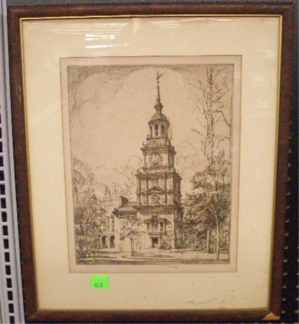 1021: Ernest D. Roth Independence Hall Etching