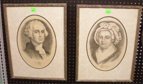 1023: George & Martha Washington Currier & Ives Prints