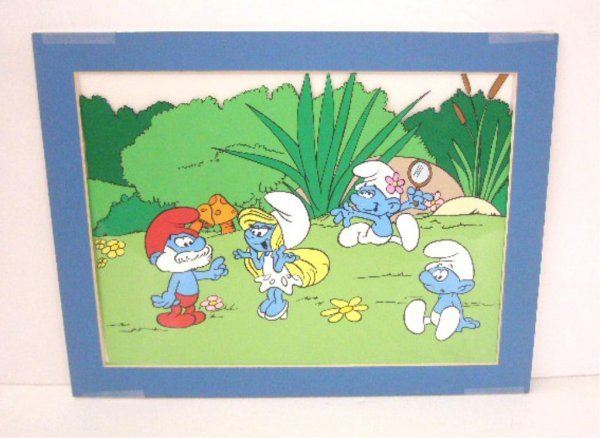 2000A: 1980's The Smurfs Animation Cel