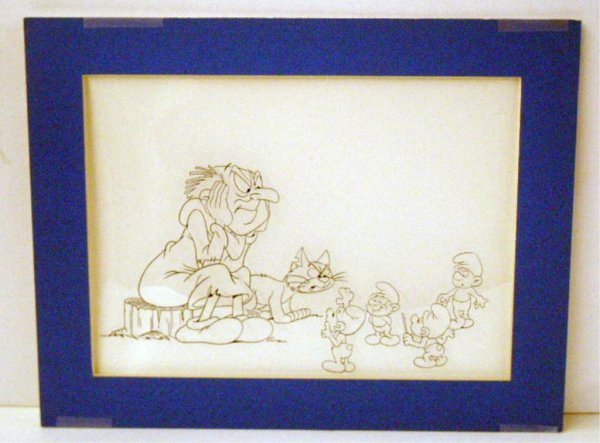 2000C: 1980's The Smurfs Animation Cel