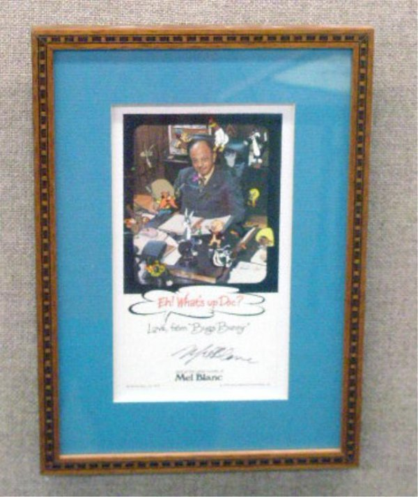 2008: Mel Blanc Signed Publicity Card