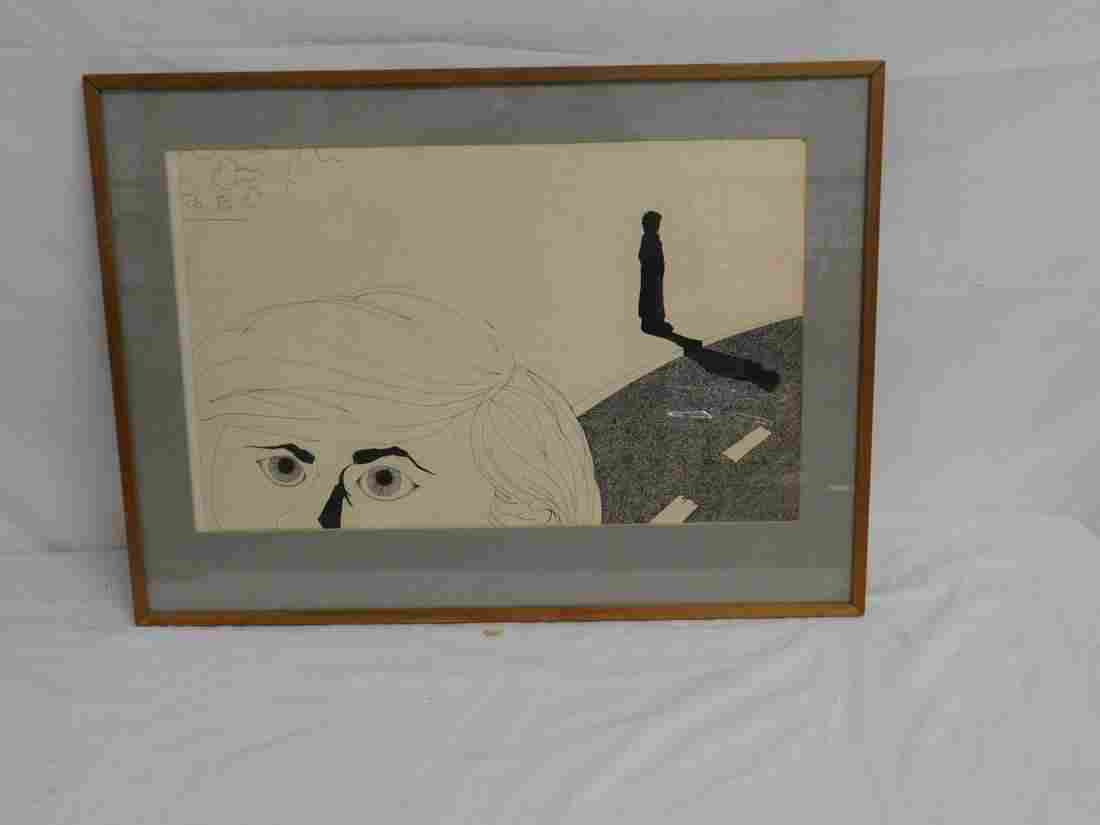 Jeffrey Pergament Ink Drawing