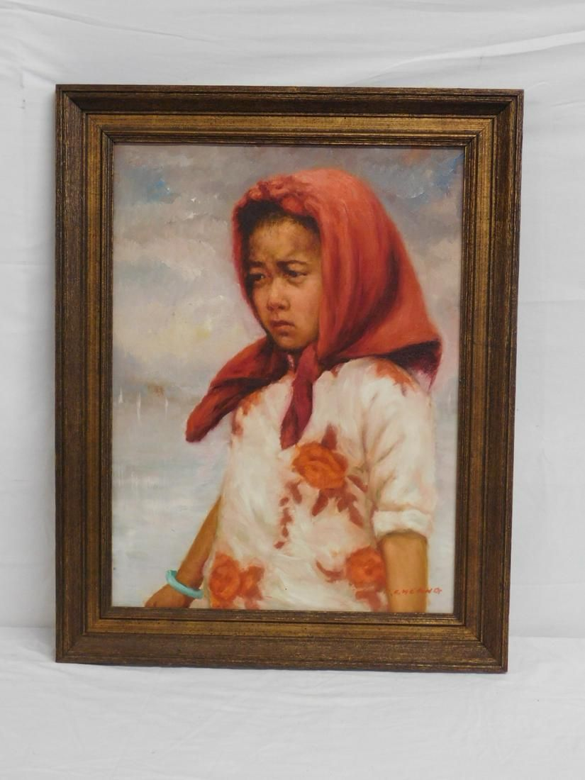 H. Cheang Signed Oil Painting