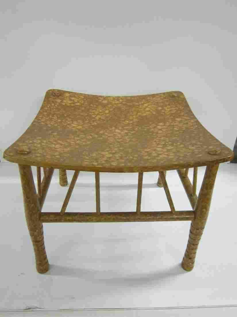 Bamboo Style Ottoman