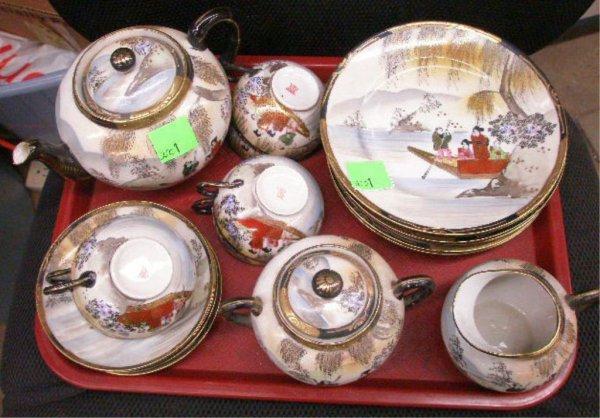 2001: Japanese Porcelain 22 Piece Tea Service