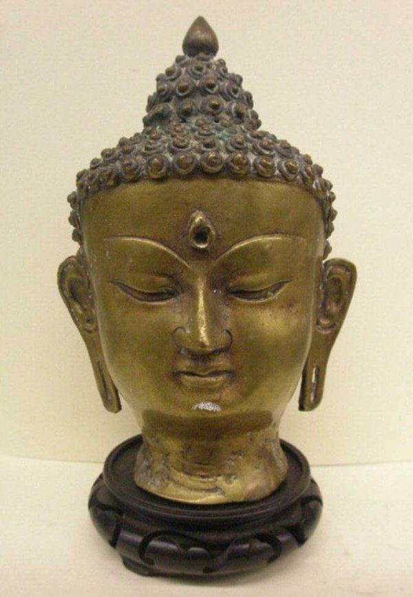 2005: Indian Brass Buddha Bust