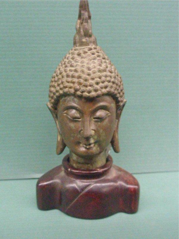 2007: Chinese Bronze Buddha Bust