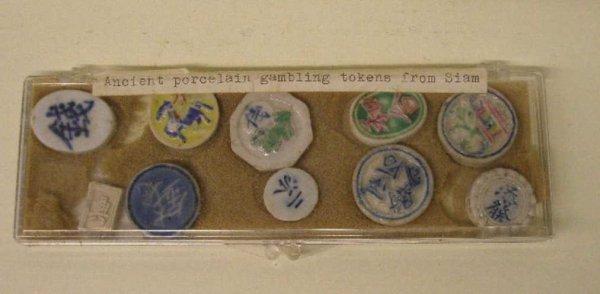 2015: 10 Oriental Porcelain Gambling Tokens