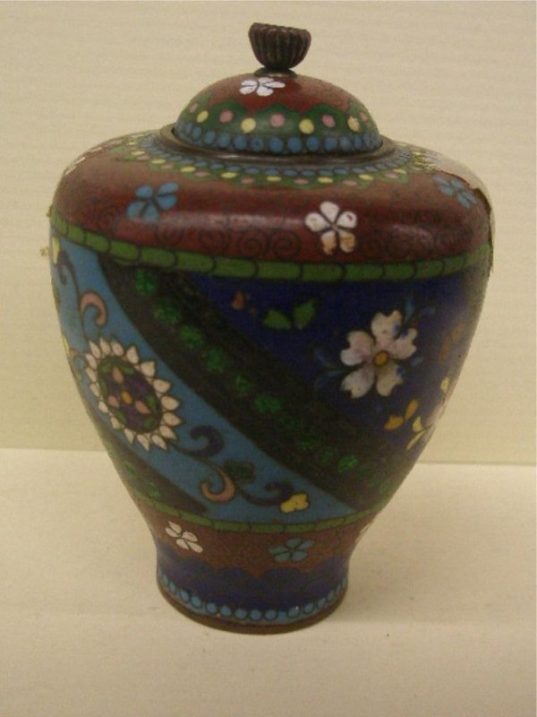 2018: Chinese Cloisonne Covered Cabinet Urn