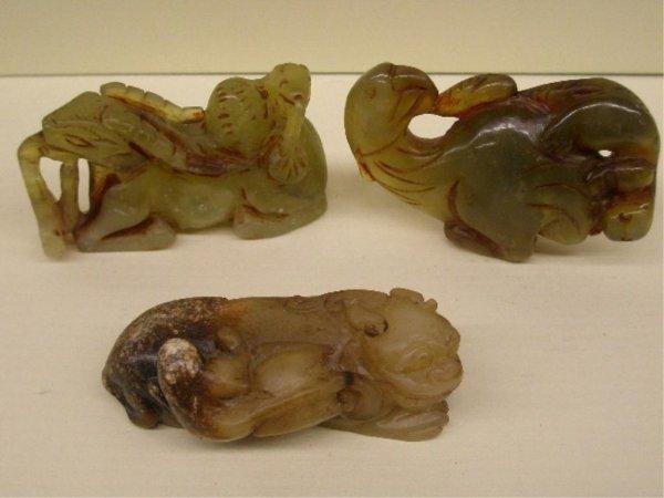 2023: Three Chinese Jade Animal Carvings
