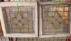 2346: Pr Clear, stained, jeweled & leaded glass windows