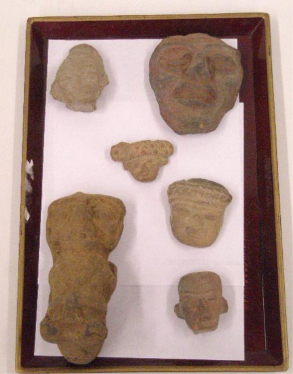 1002: Pre Columbian Stone Faces & Pipe
