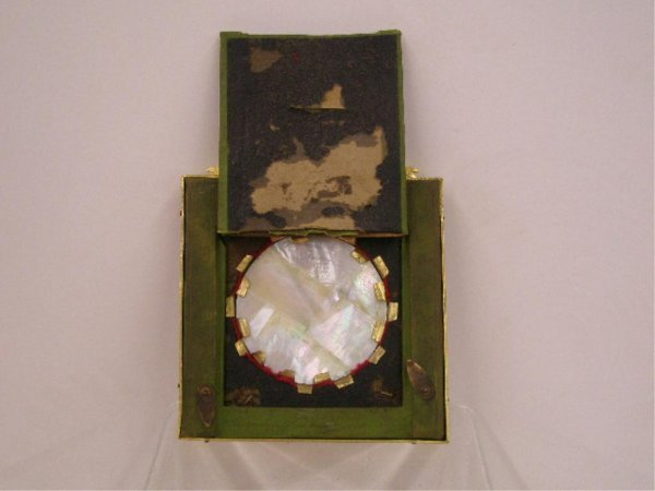 1016: 19th c. Portrait Painting On Mother of Pearl