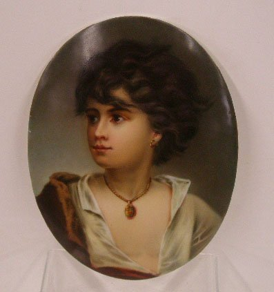1017: 19th c. Unsigned Painting On Porcelain