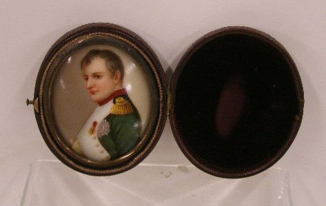 1018: 19th C. Napoleon Painting On Porcelain