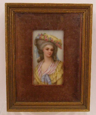 1019: 19th c. Continental Painting On Porcelain