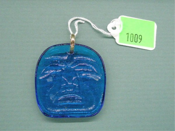 1960's Glass Face Pendant