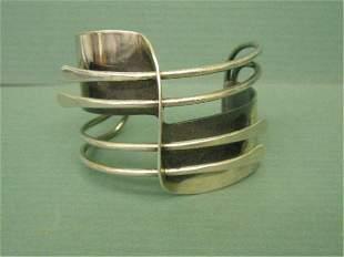 Art Smith Silver Modern Cuff Bracelet