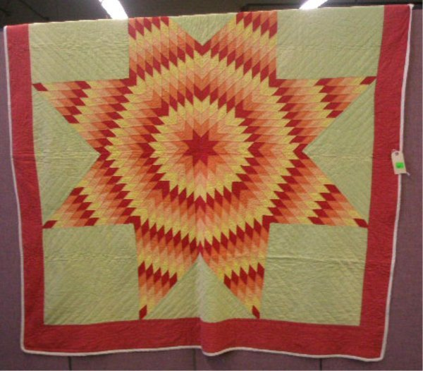 Early 20th c. Single Star Pattern Quilt