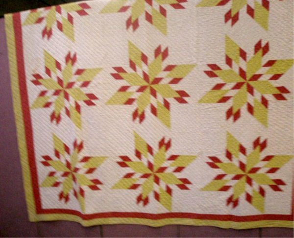 Early 20th c. Multi Star Pattern Quilt