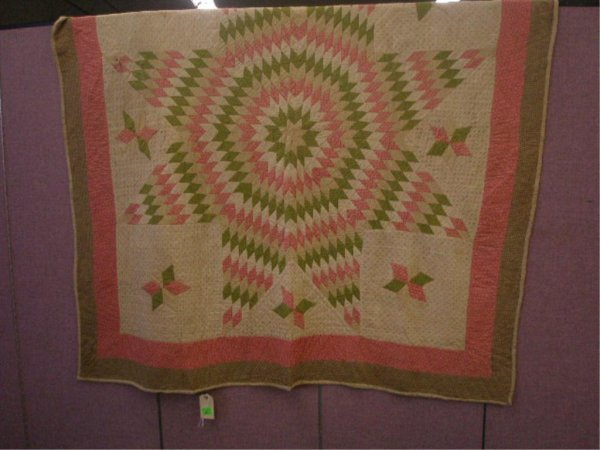 Late 19th/Early 20th c. Star Pattern Quilt