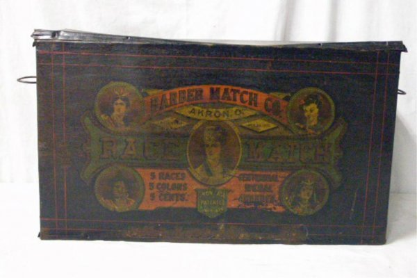 C. 1870 Barber Match Co. Display Tin