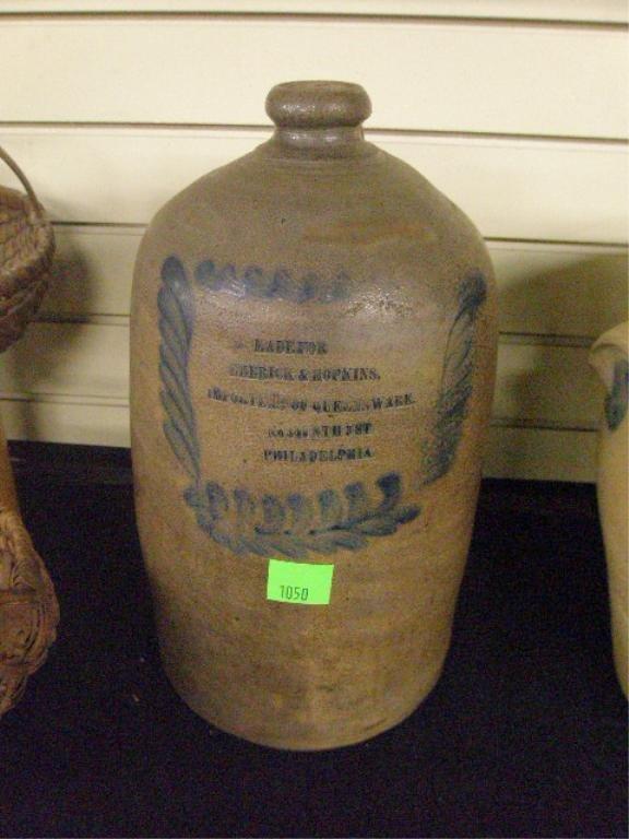 Decorated Salt Glaze Stoneware Jug
