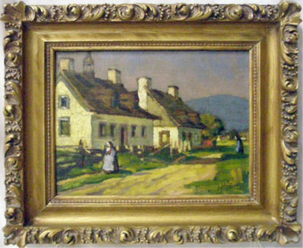 John Young Johnstone Signed Oil on Panel