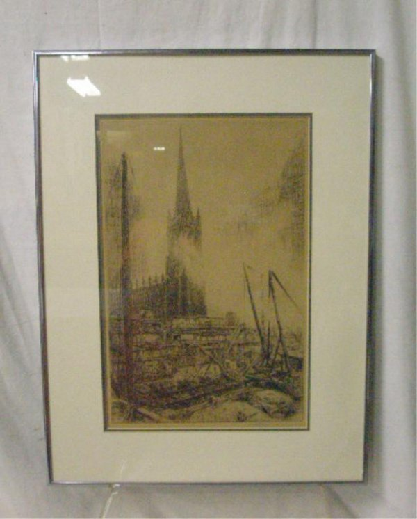 Keer Eby Signed Etching