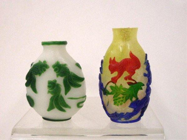 Chinese Peeking Glass Snuff Bottles