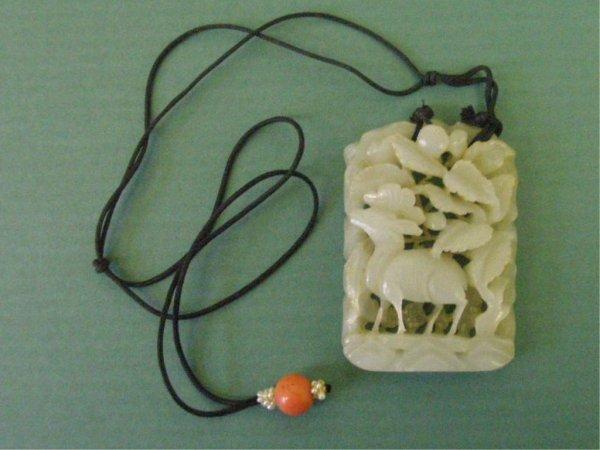 Carved Jade Pendant