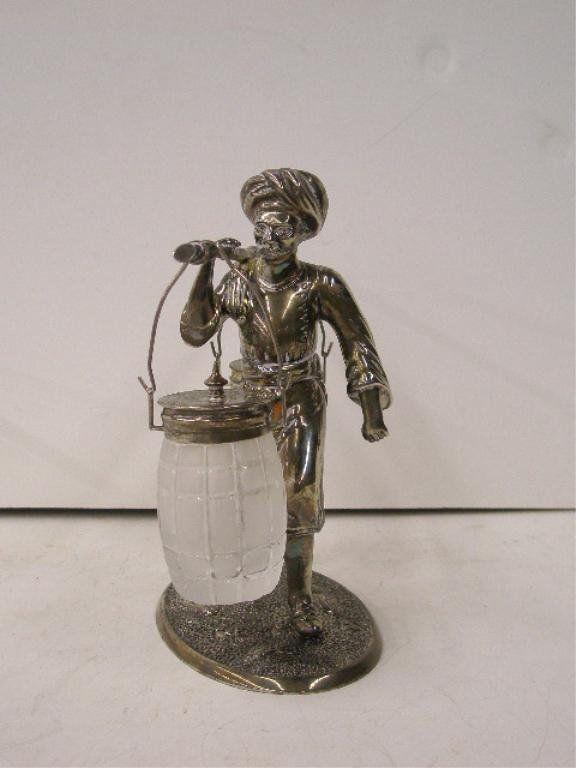 Silverplate Figural Condiment