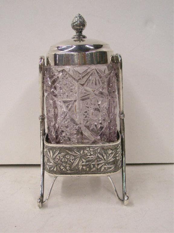 Victorian Silverplate Pickle Castor
