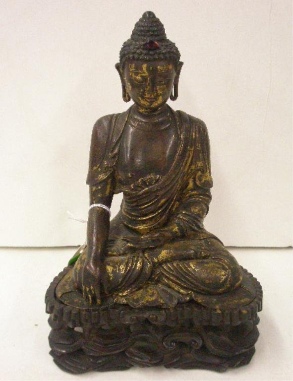 Antique Dore Bronze Buddha