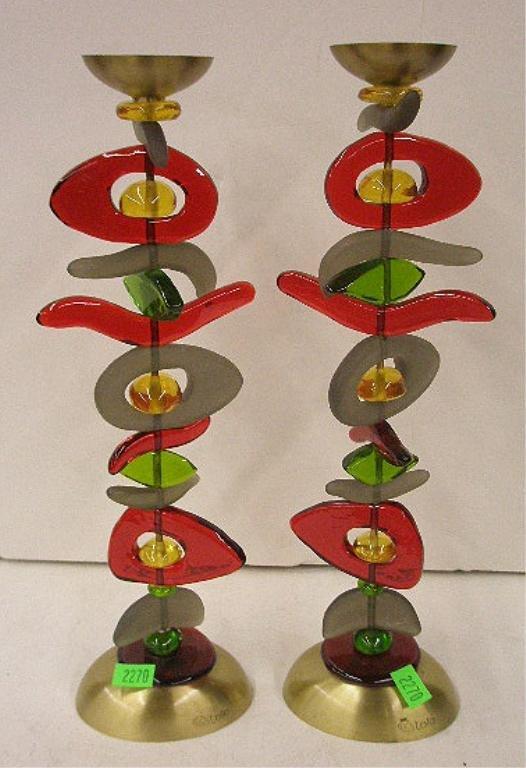 Orna Lalo Matisse Shabbat Candlesticks