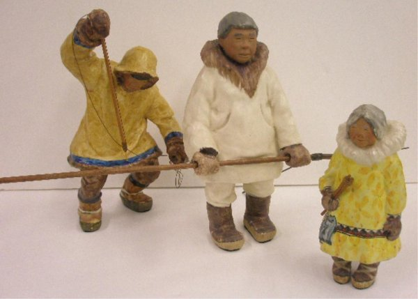 C. Alan Johnson Pottery Eskimo Figures