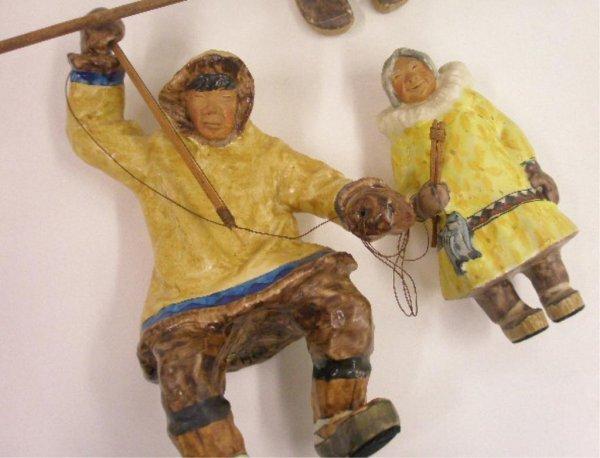 C. Alan Johnson Pottery Eskimo Figures - 2