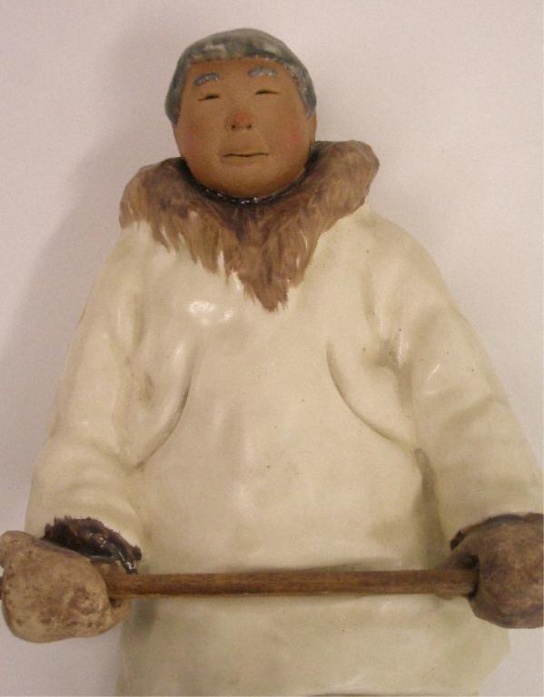 C. Alan Johnson Pottery Eskimo Figures - 4