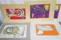 5 William J. Wendt Jr. Lithographs